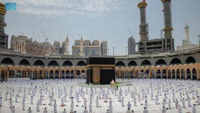 Photo of وسط إجراءات احترازية مكثّفة.. أول صلاة جمعة في رمضان بالحرم المكي