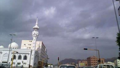 Photo of حالة سحب رعدية ممطرة على المدينة المنوّرة تتواصل حتى 7 مساءً