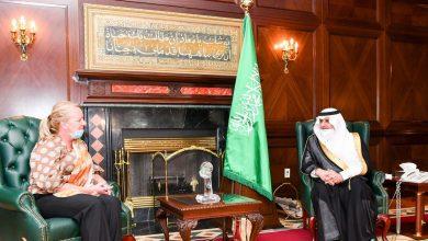 Photo of أمير تبوك يستقبل سفيرة مملكة هولندا لدى المملكة